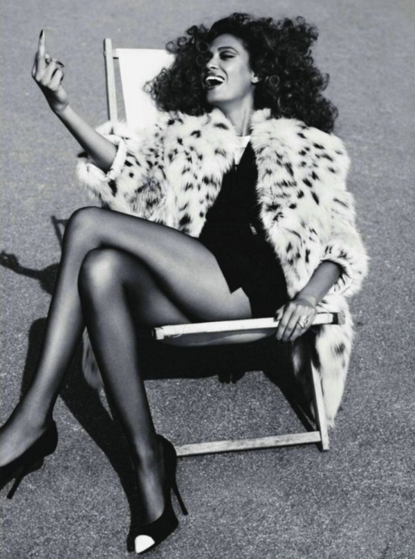 "Image Credit: Joan Smalls for ""French Connection"" Vogue Paris Sep '11."