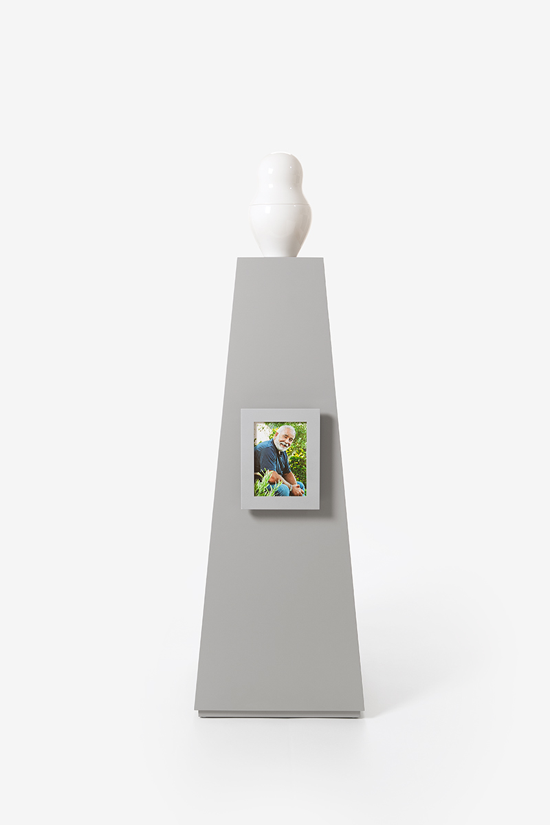 Picture Frame small Coated silver-gray