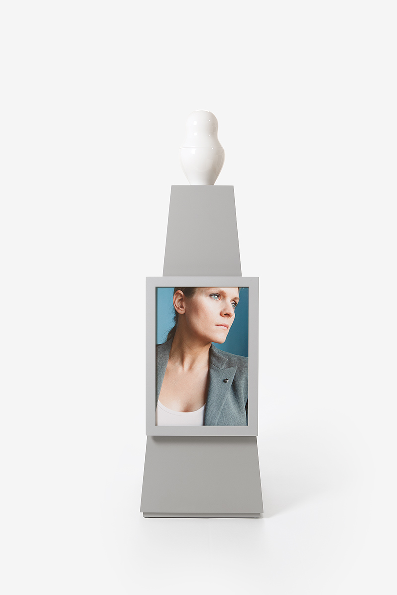 Picture Frame large Coated silver-gray