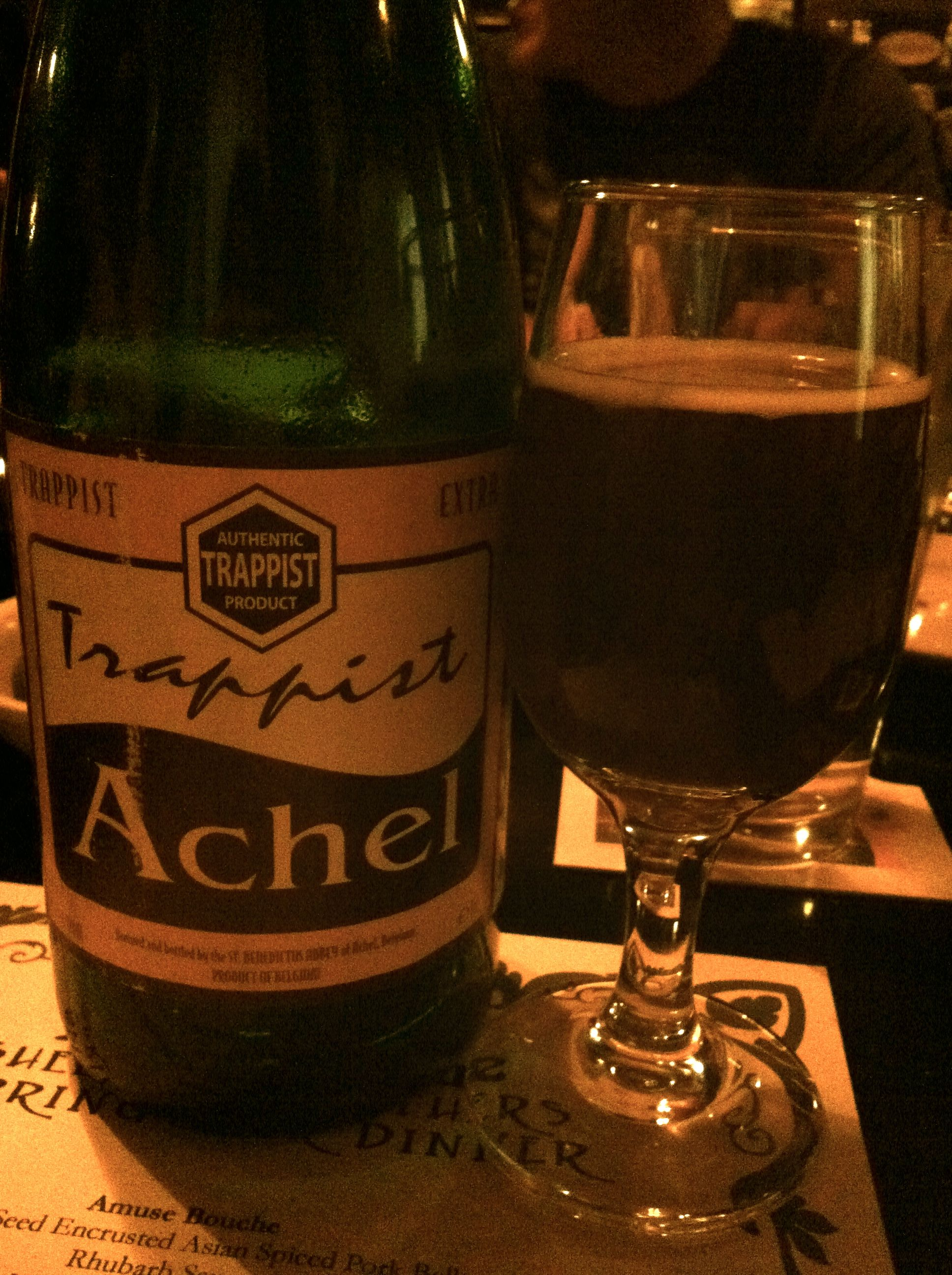 Trappist Achel at Black and Blue, Easton.