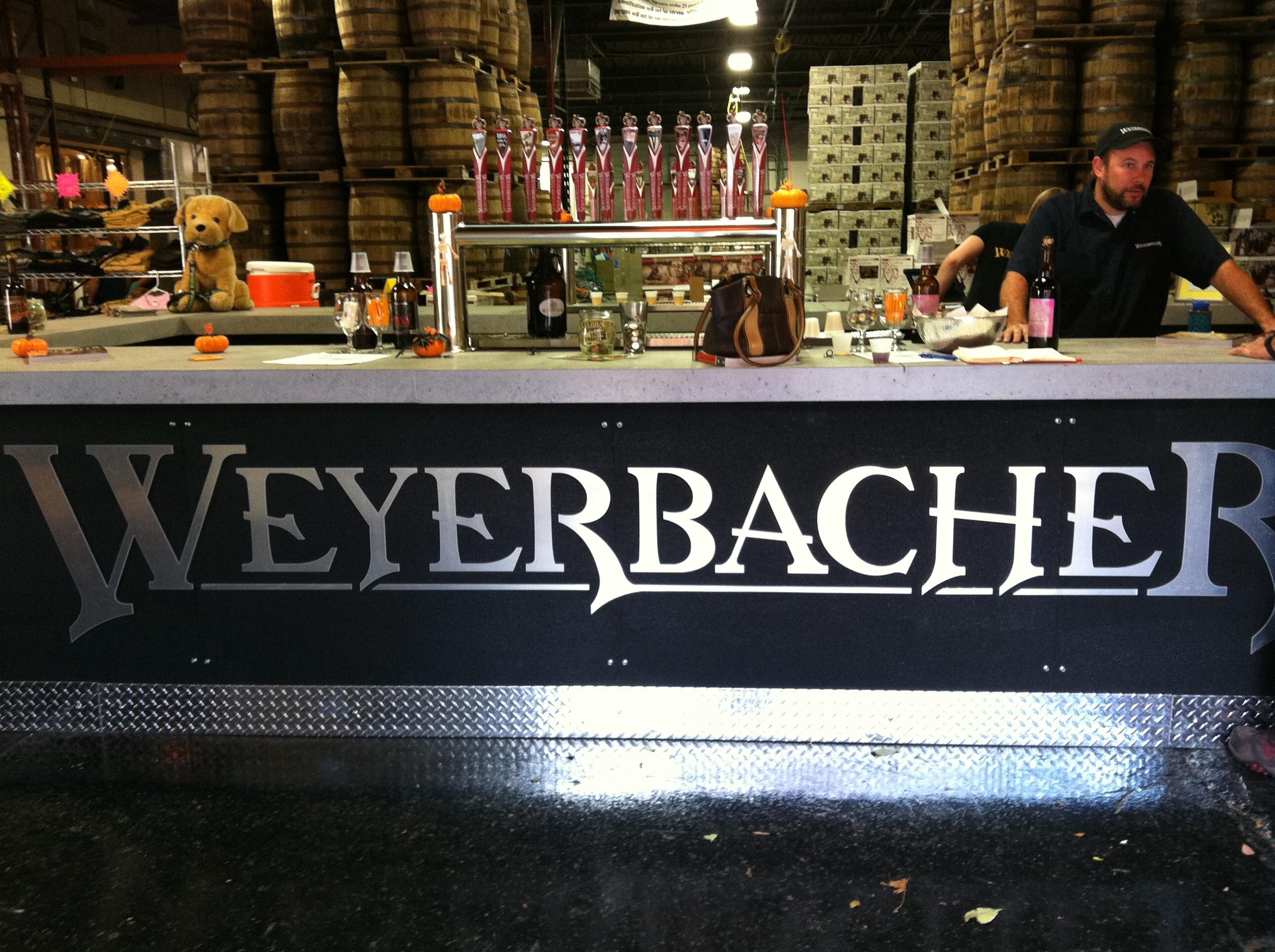 The inimitable Bill Bragg at Weyerbacher Brewing Company, Easton.