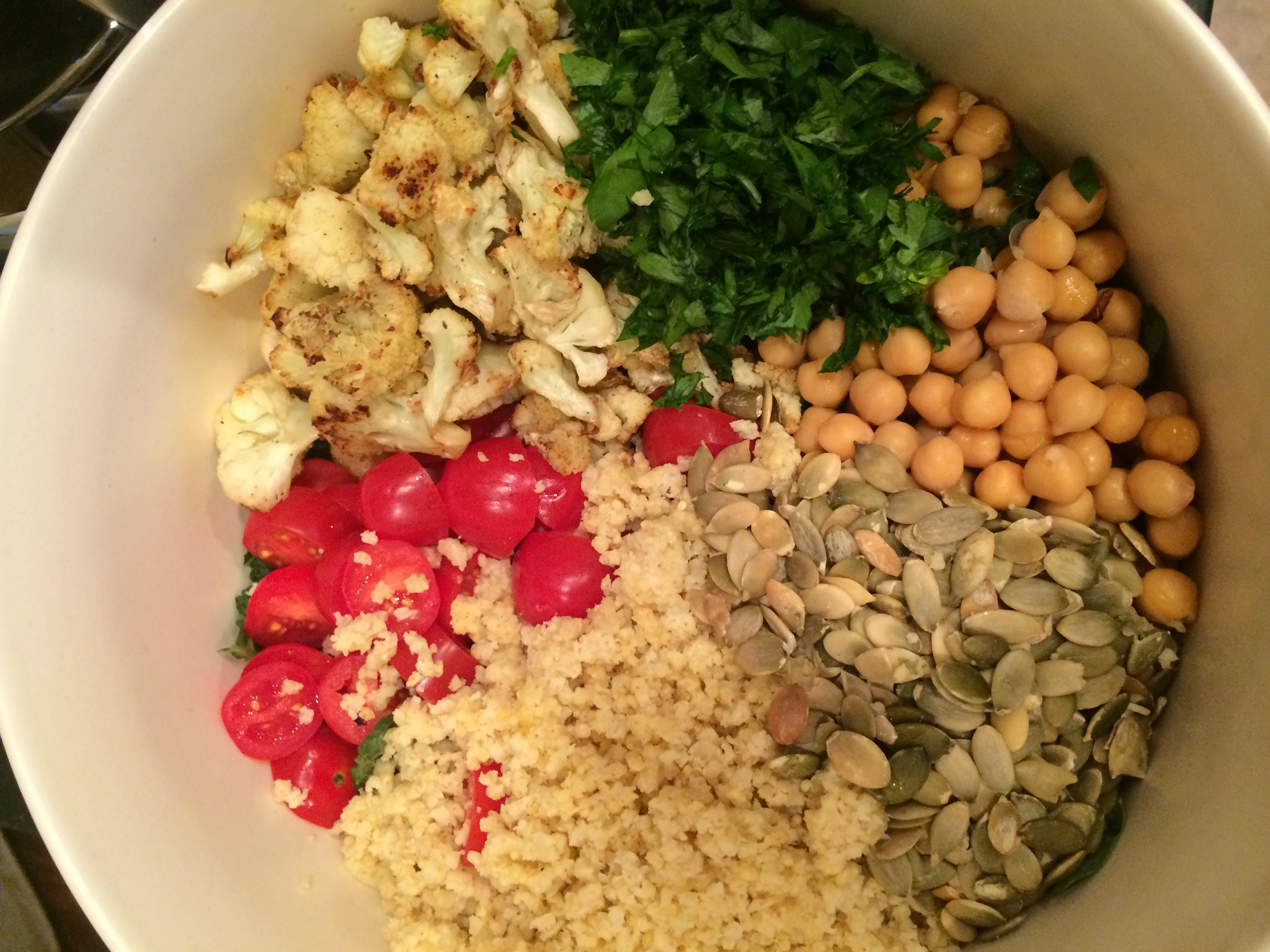 Middle Eastern Buddha Bowl with Honey-Lime Tahini Dressing