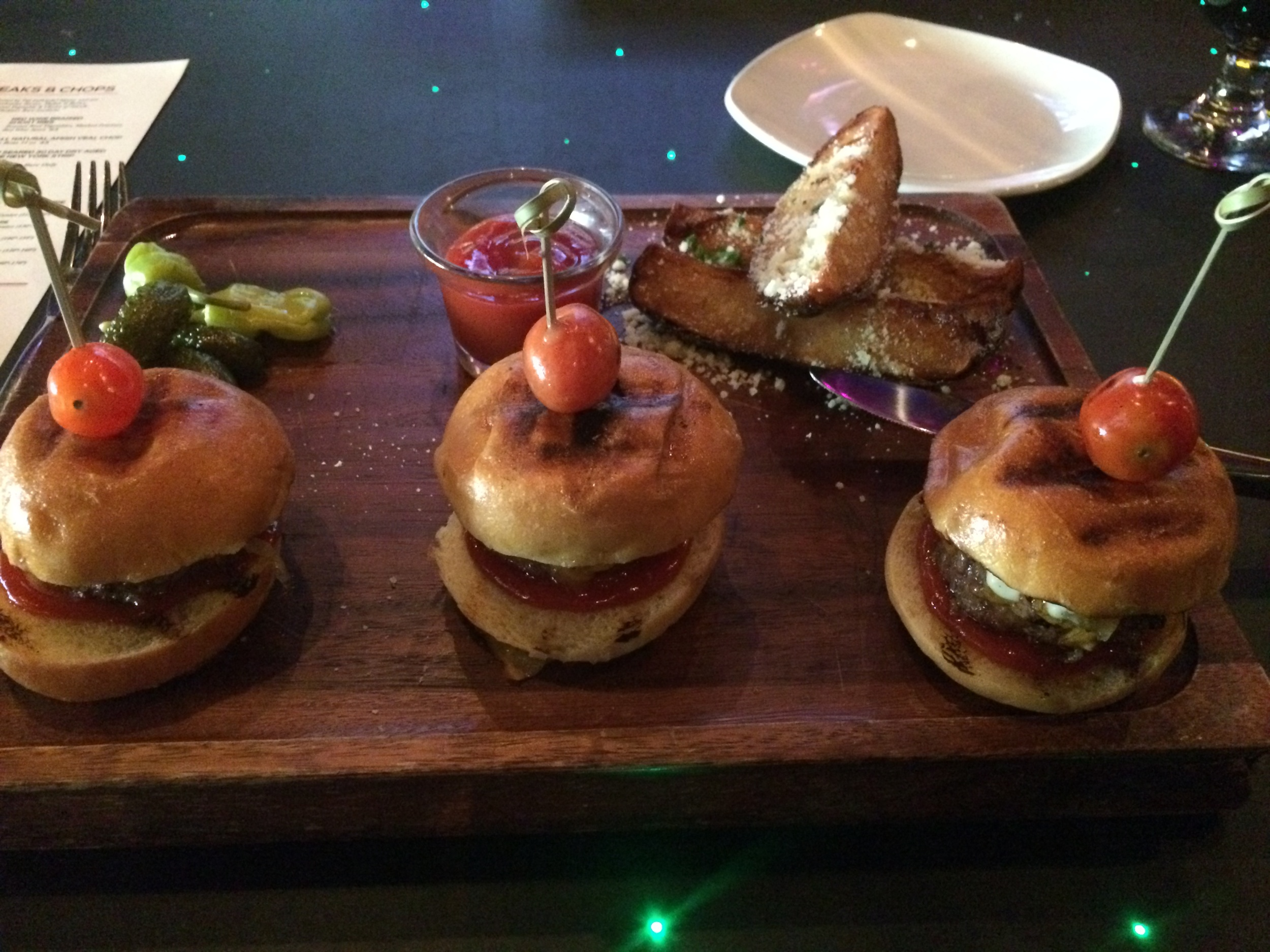 The sliders, at Corked Wine Bar and Steakhouse in Bethlehem.