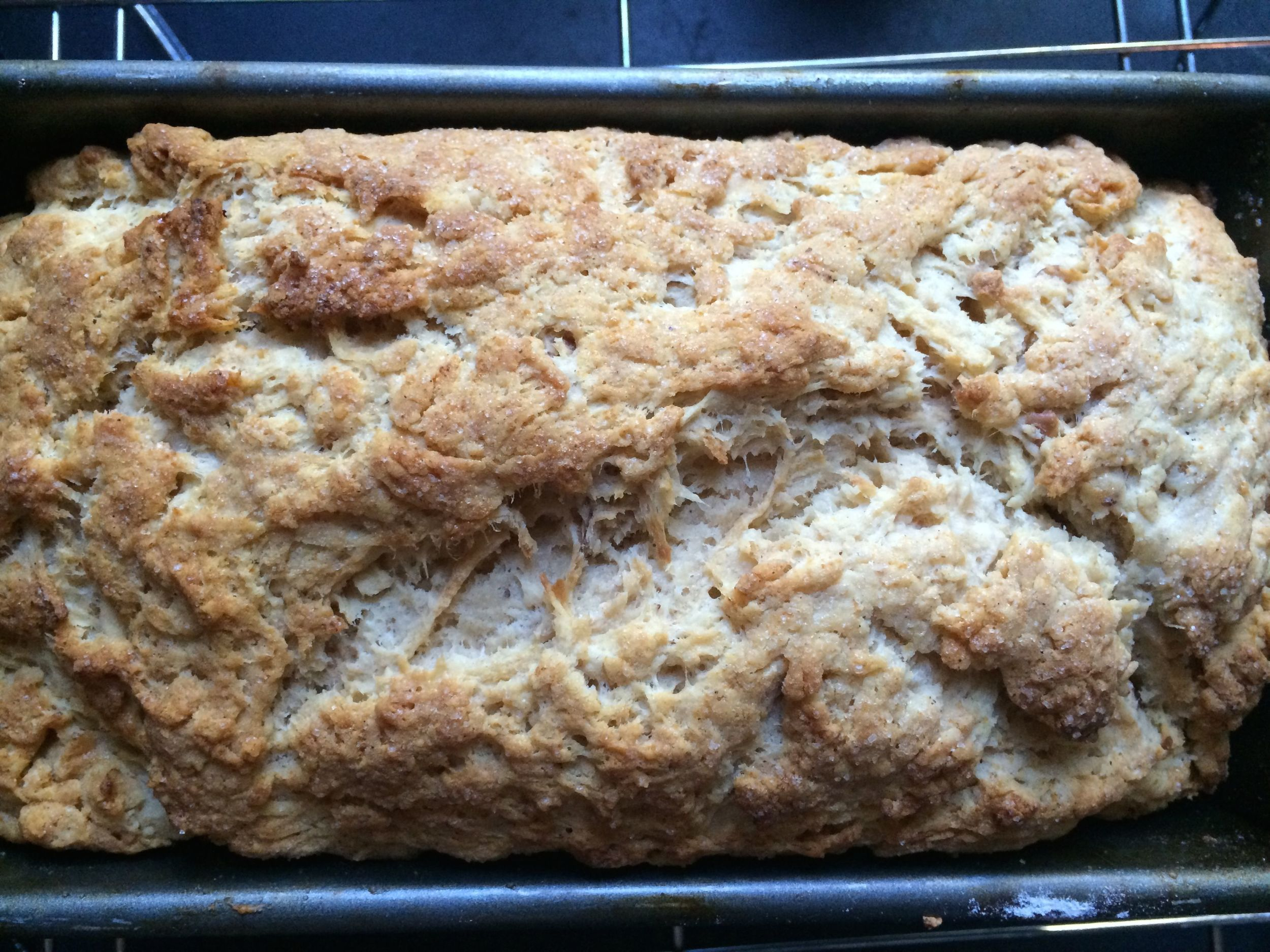 Cider, y'know, the alcoholic kind, makes for a great beer bread. With apples.