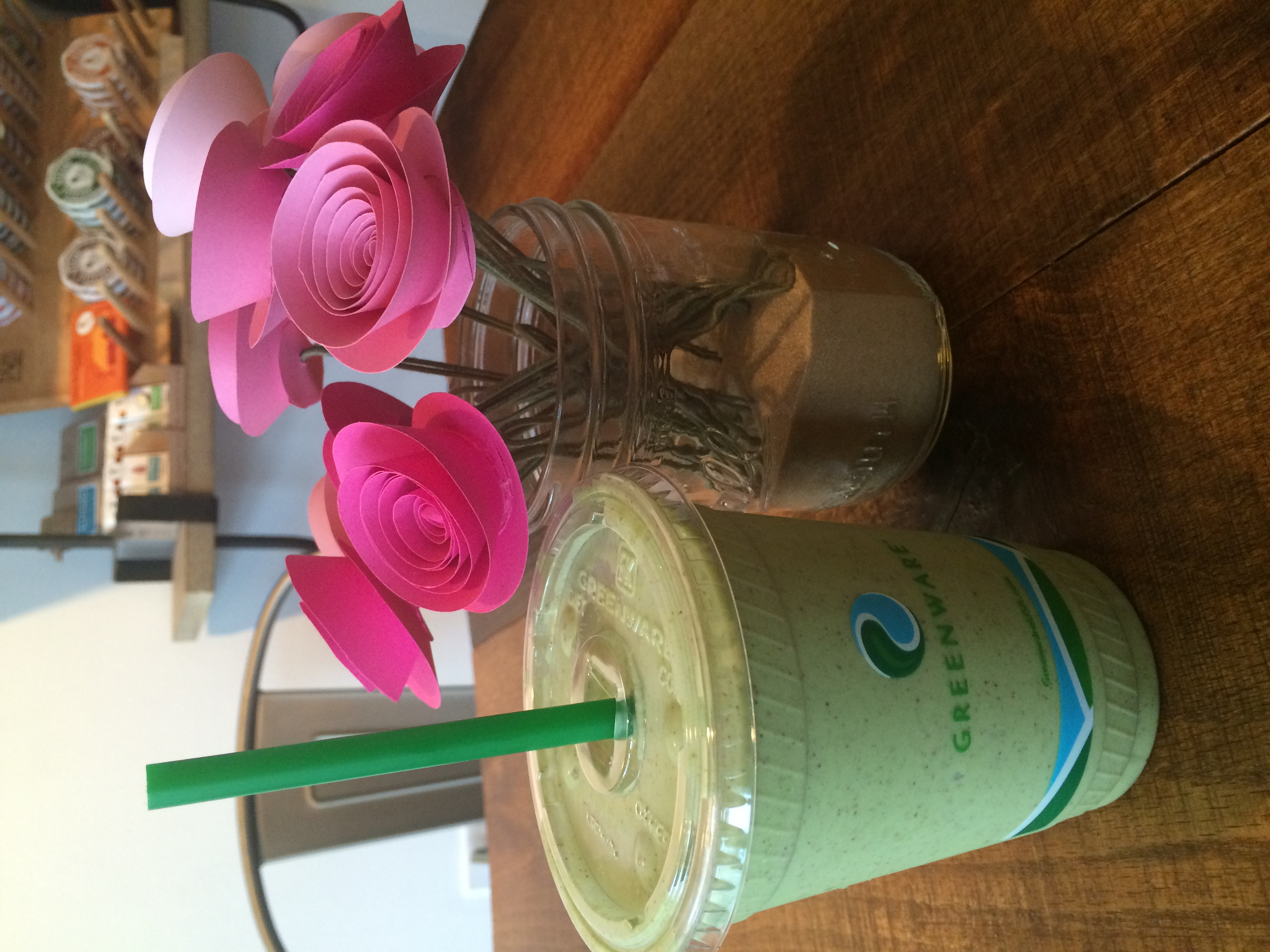 Green Apple Streudel Smoothie at Greenmouth Juice Bar & Cafe, Easton.