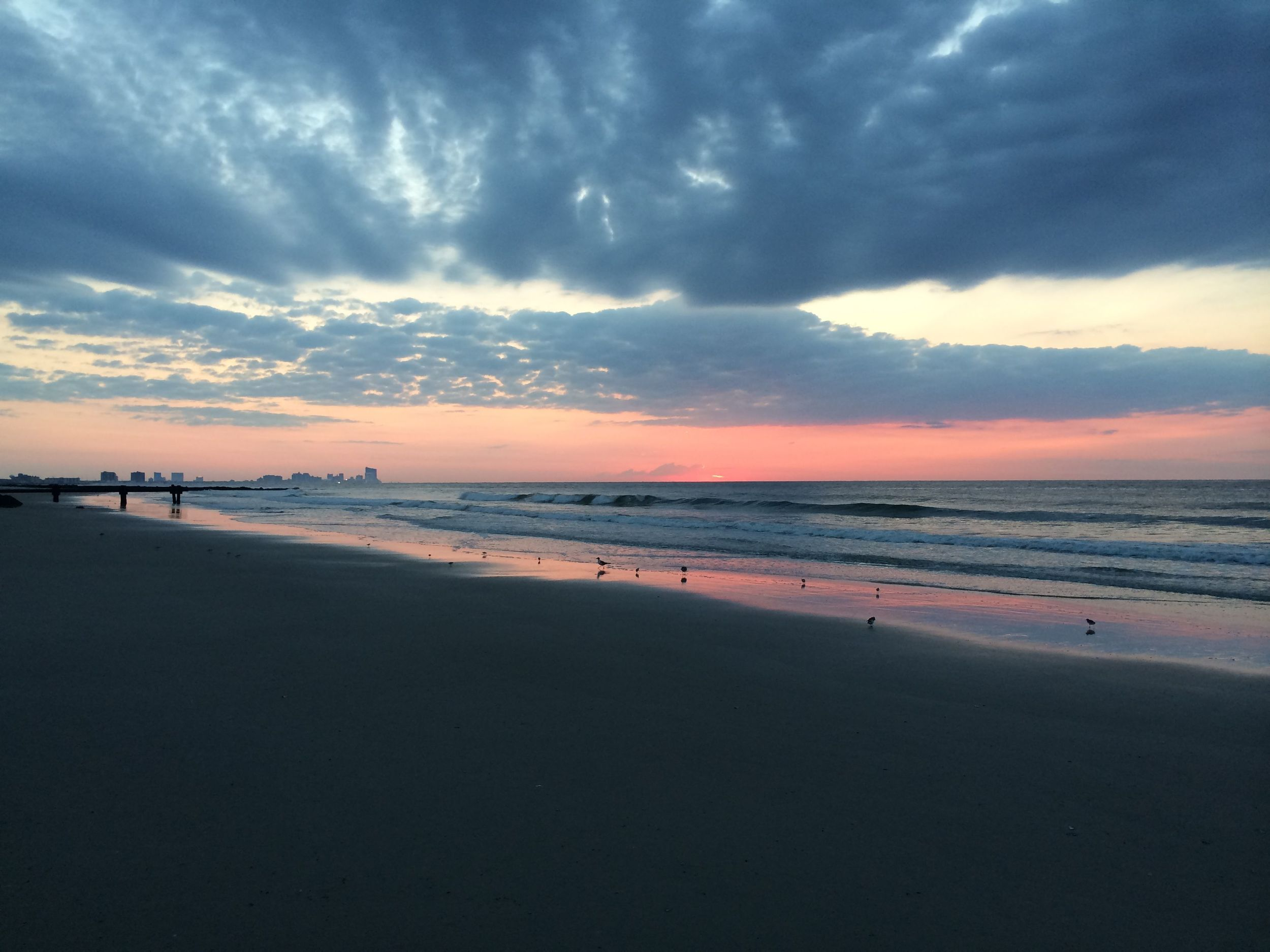 Ocean City, New Jersey. August 2014. Waiting for the light.