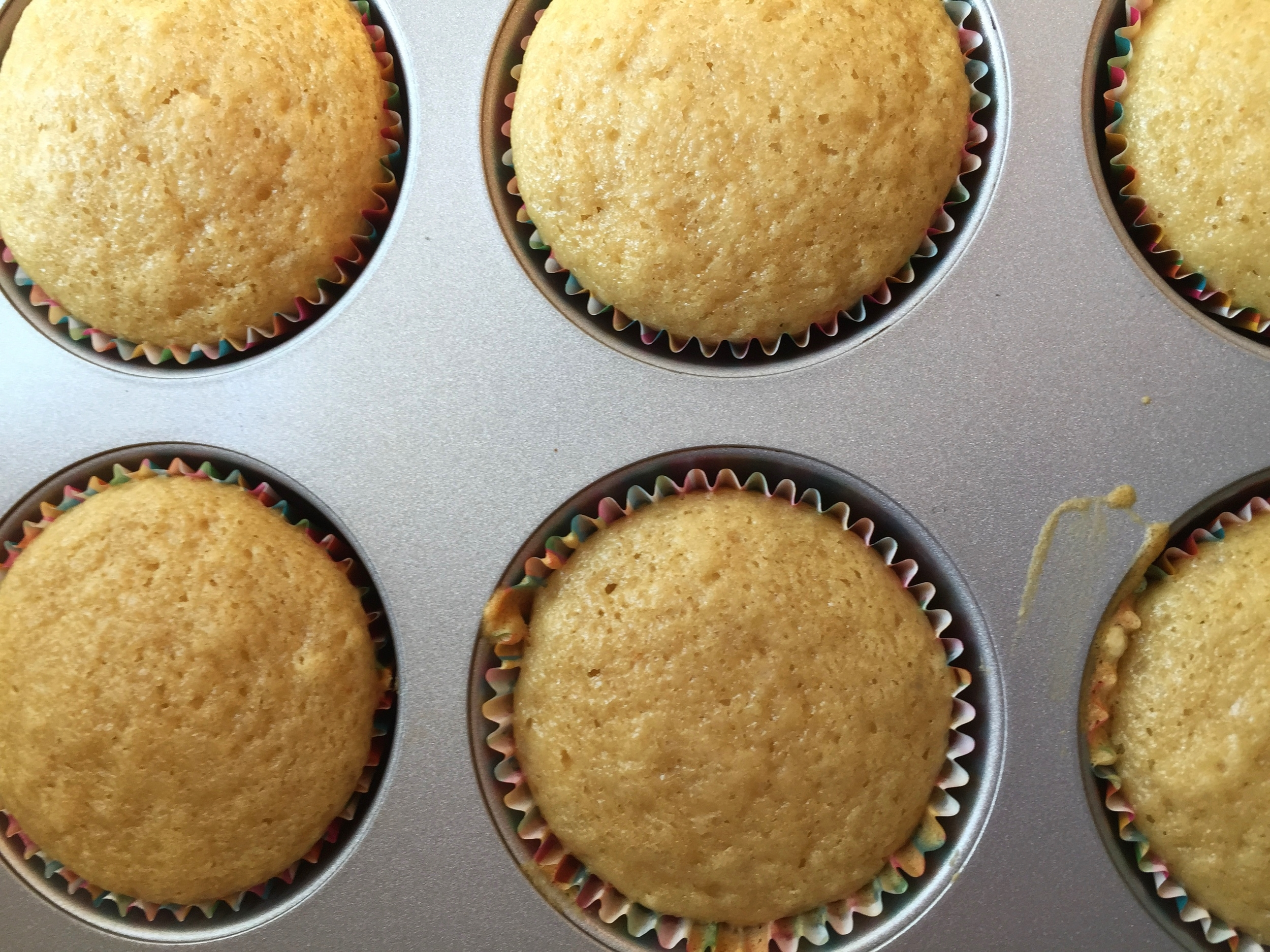 Hard to believe these cupcakes have chamomile in them; they look so unassuming, don't they?