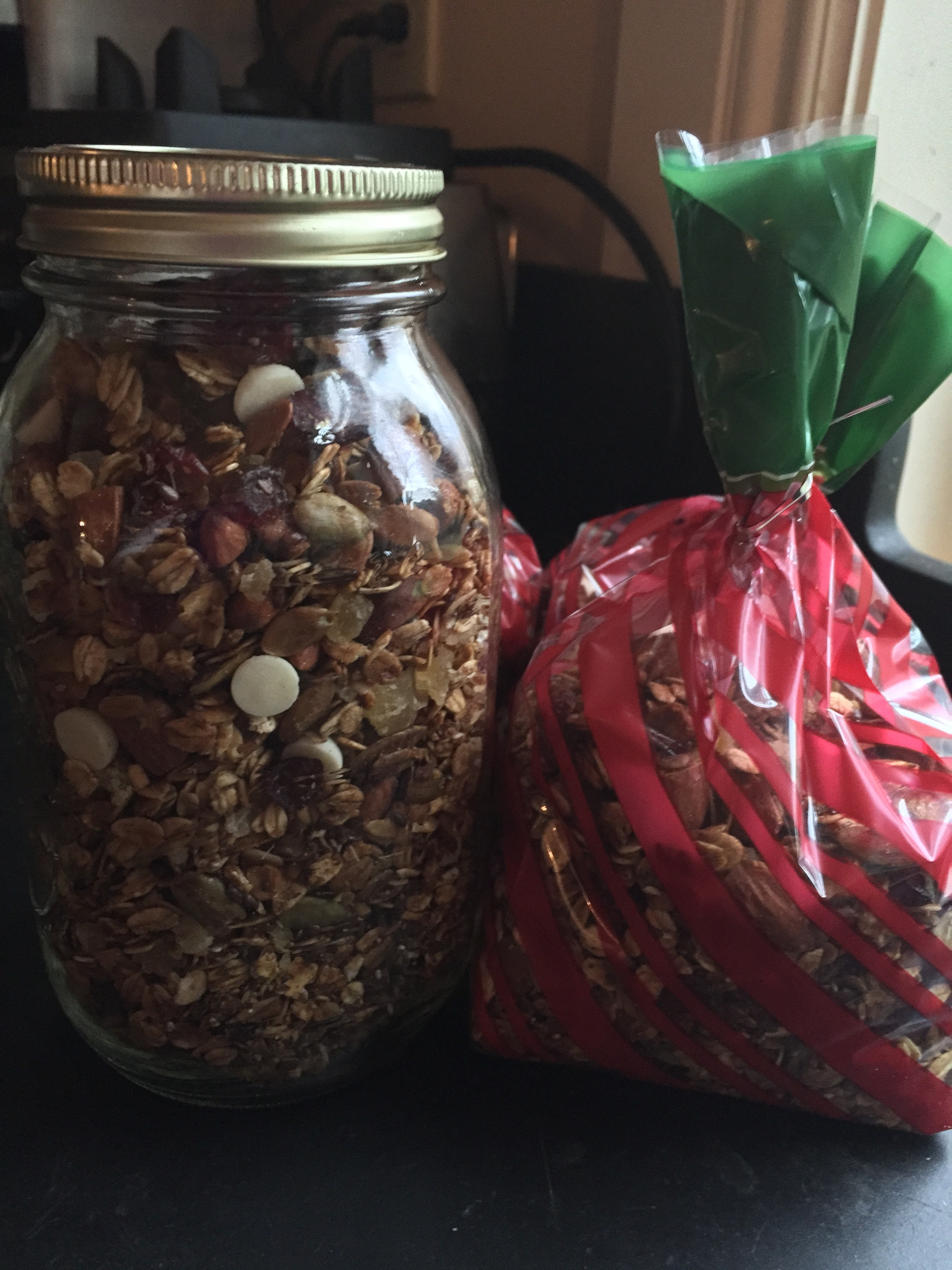 Ultimate spiced holiday granola. Some for me, some for you...