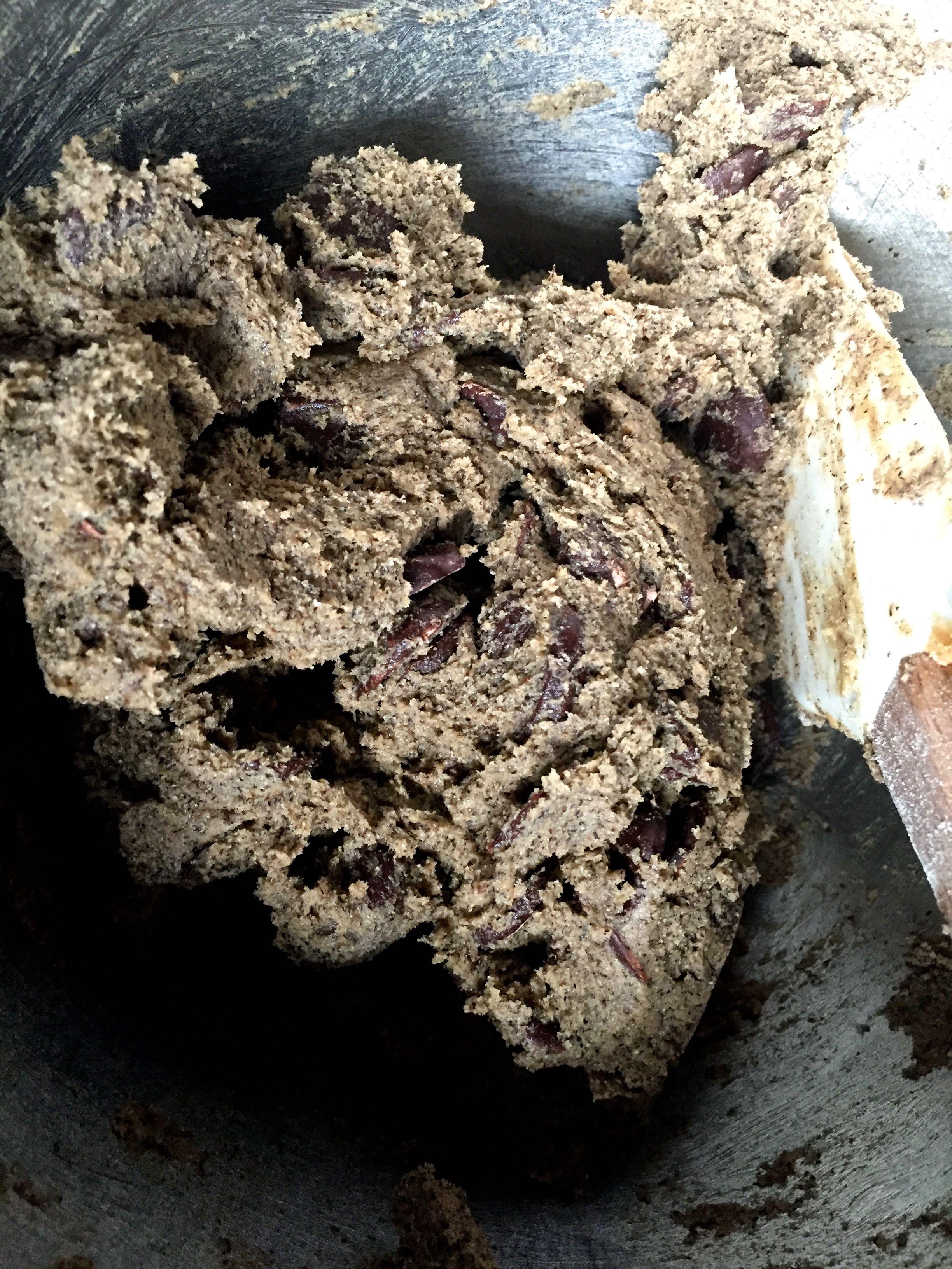 Dark and dreamy gluten-free chocolate chip cookies.