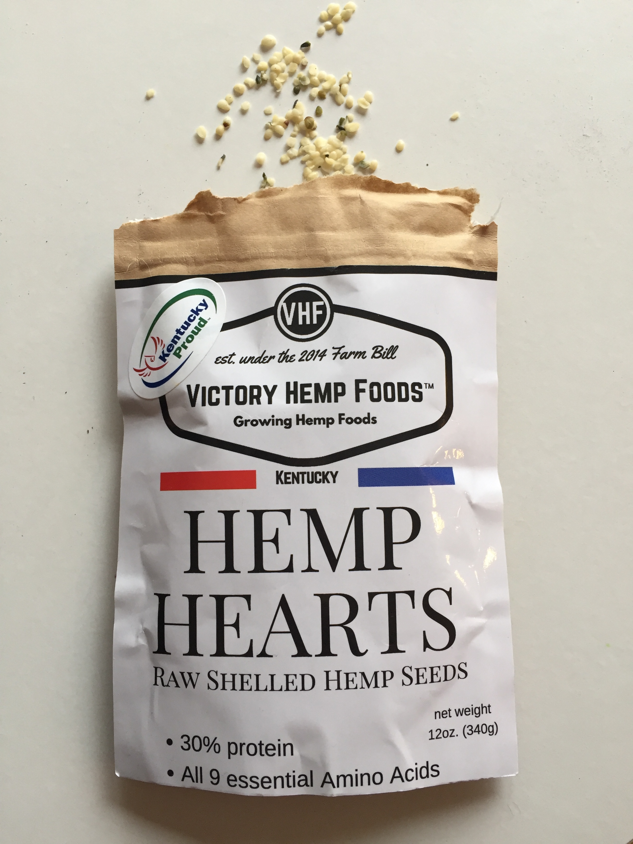Fresh and nutritious hemp hearts from Victory Hemp Foods in Kentucky.