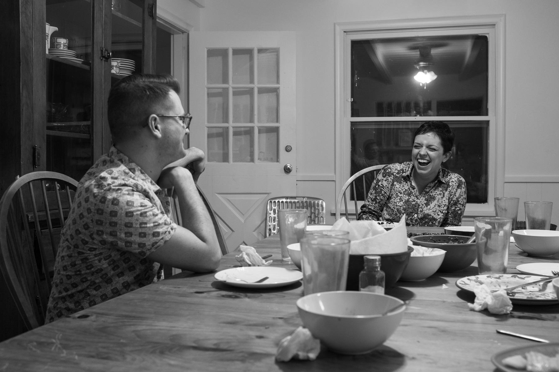 Our dear friend  Justin Hackworth  took this photo of the man and I while eating dinner together.