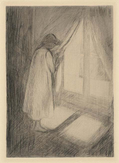 Girl at window, Edvard Munch