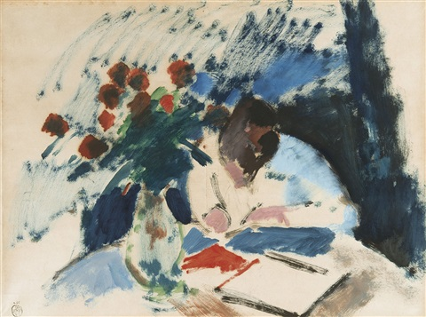 woman writing by rik wouters/1915