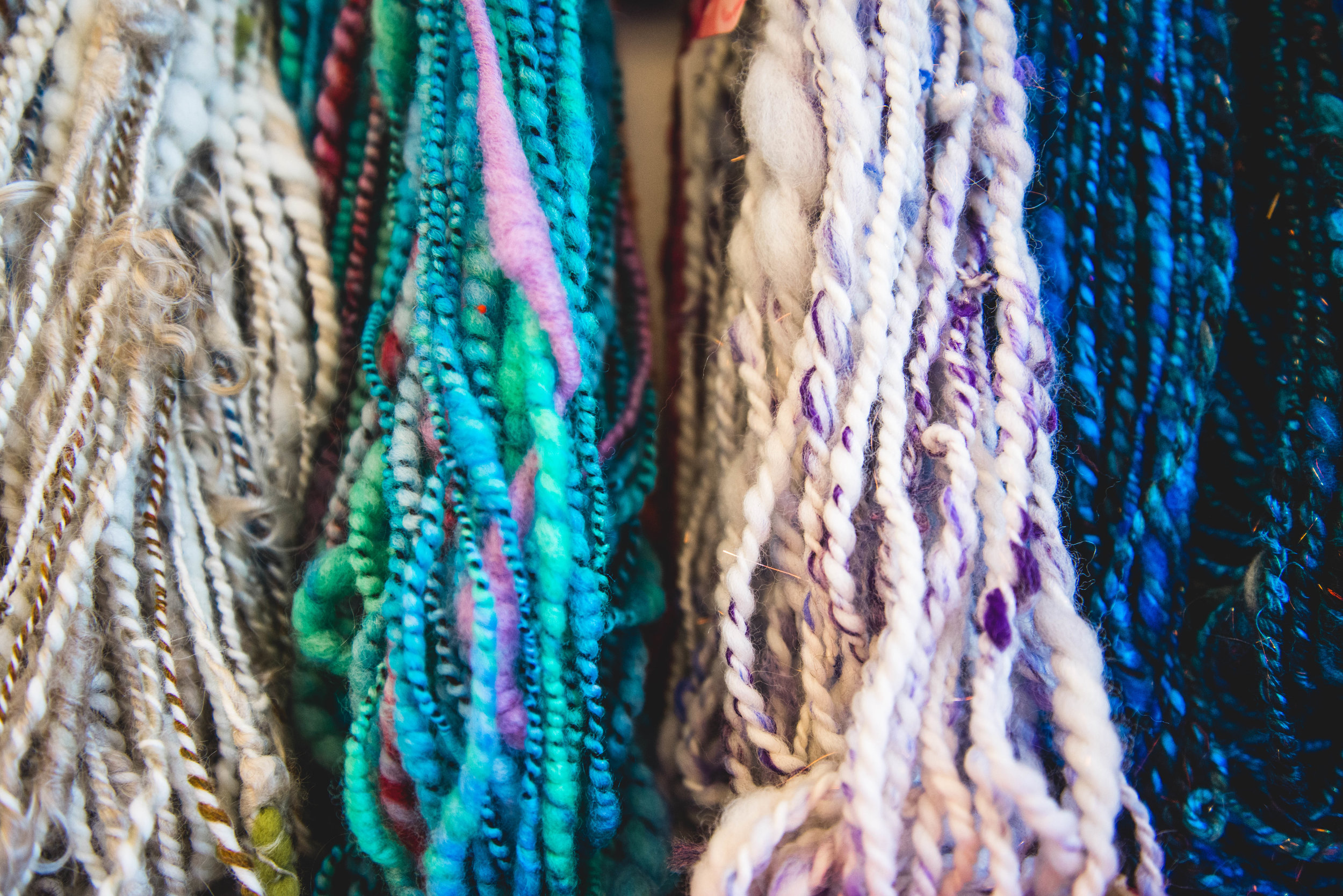 Hand Spun yarn necklaces