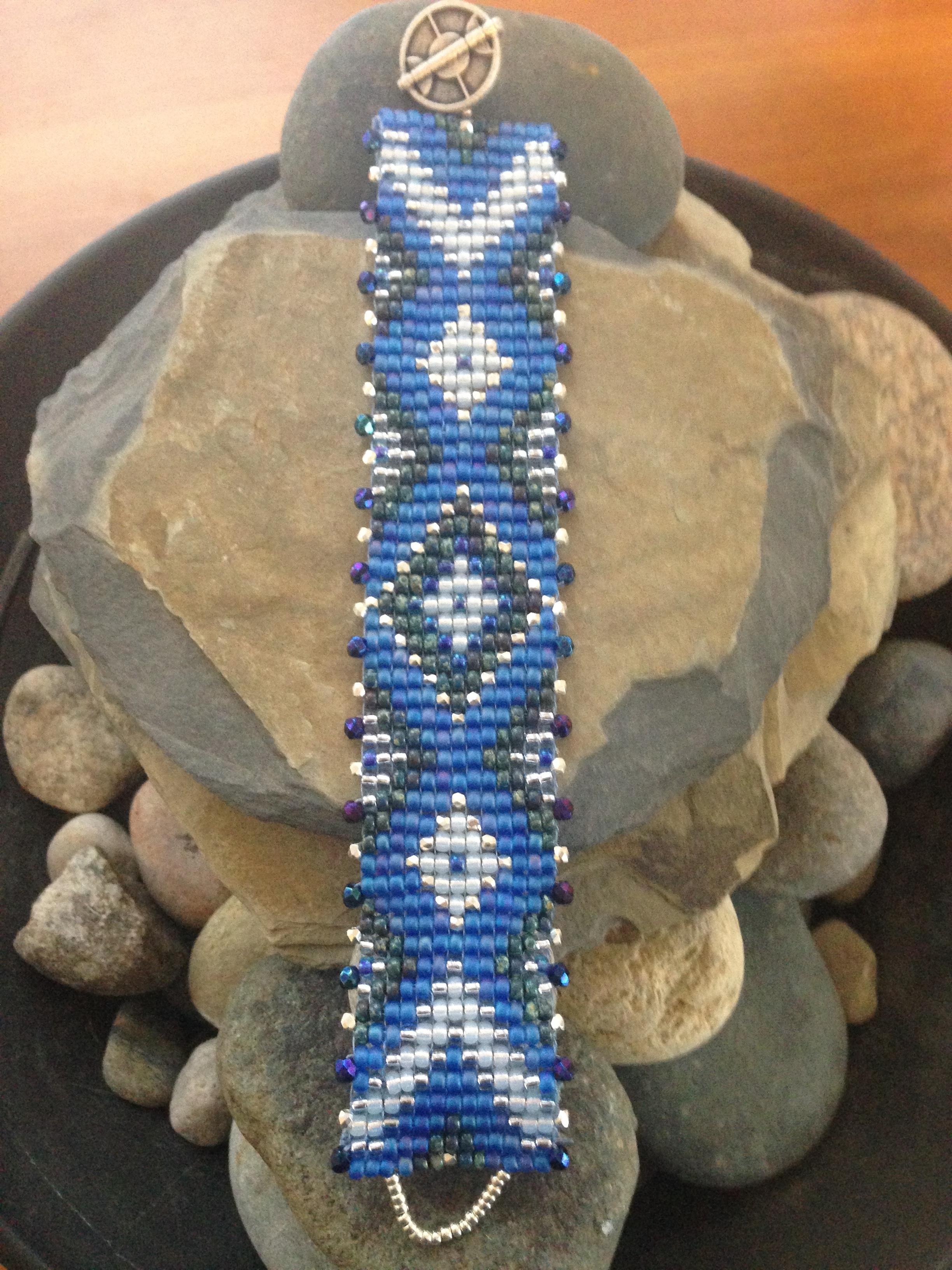 Sapphire and Silver Bracelet.JPG