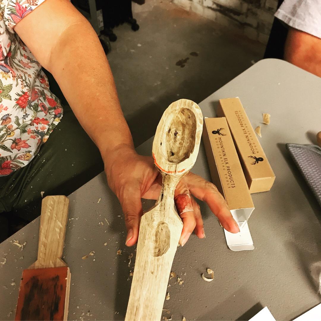 Swedish spoon carving july u fiber vine