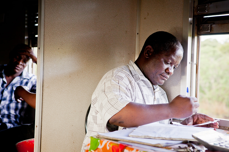 The counter . Tazara Express. Zambia