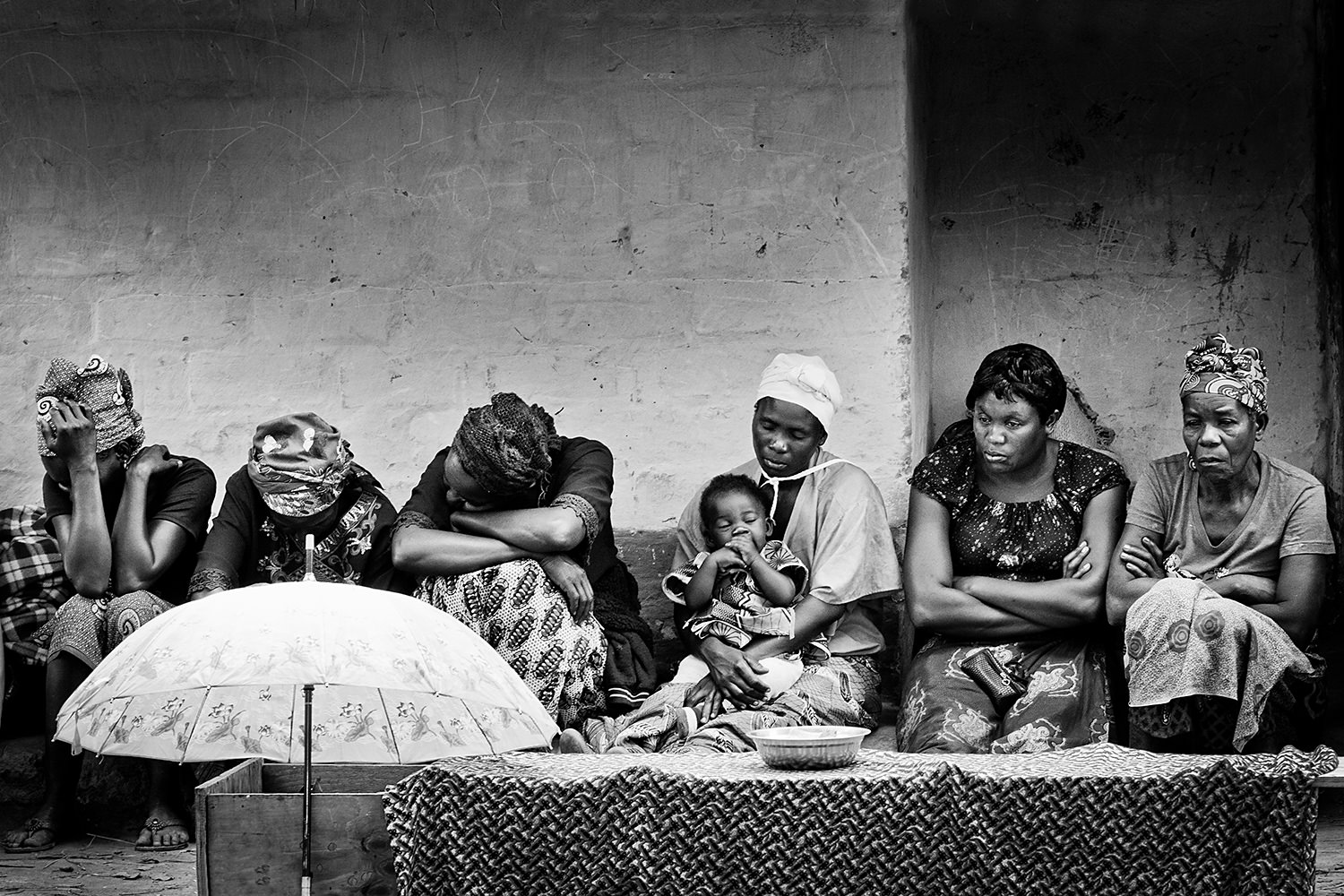A moment from a funeral in a small village outside Lusaka-Zambia