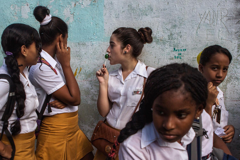 A group of kids after school. Habana- Cuba