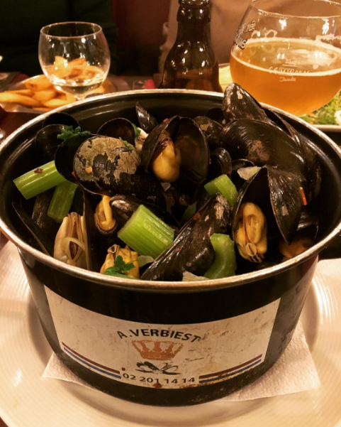 Mussels in Brussels.