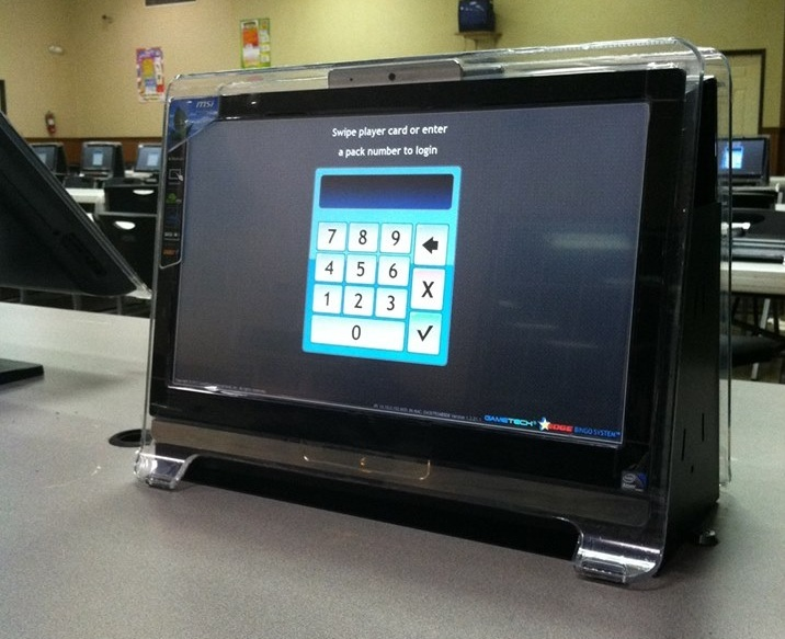 Computer screen that you can play on at Bingo Bonanza