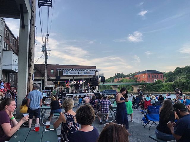 Thank you @ballroomthieves and @maxgarciaconover for a wonderful evening of live music downtown Augusta. Let's do it again. #supportthearts #downtownaugusta #cushnocbrewing #livemusic