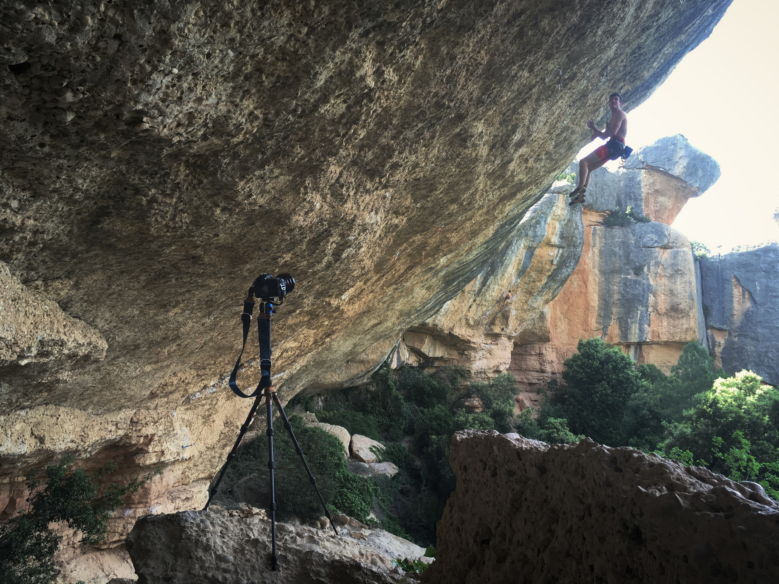 Rick on the job in Margalef, Catalunya // L Lonsdale ©