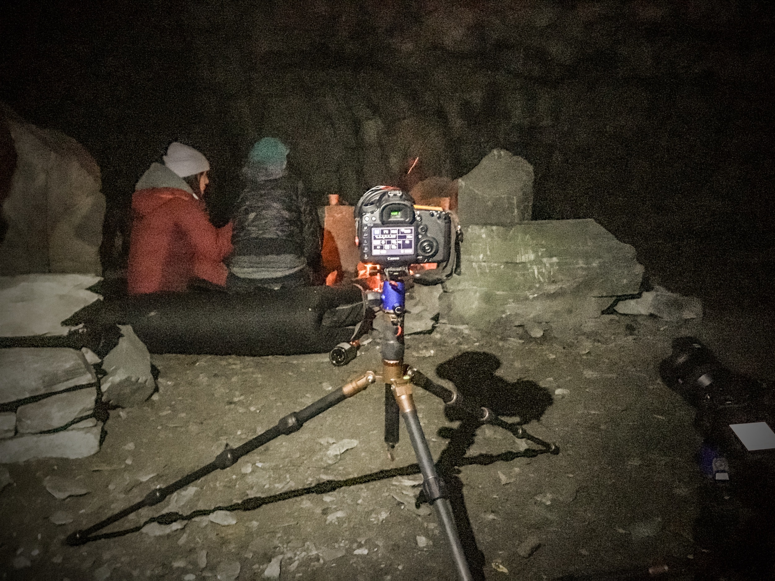 Little Langdale: Night photography + in a cave = EXTRA DARK