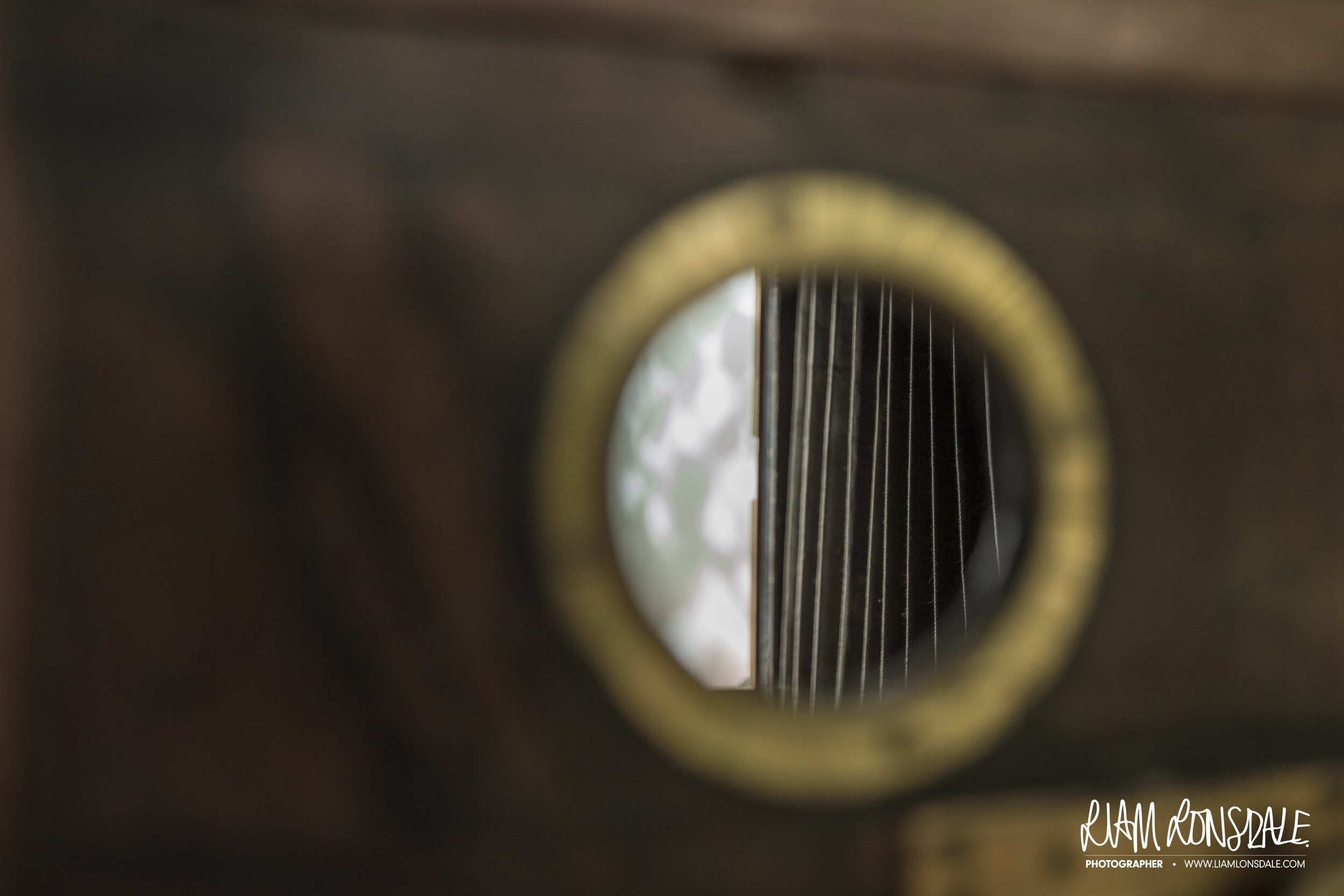 Looking through the front of the camera, through the 'lens mount in fact', at the inside of the bellows | pic © L LONSDALE