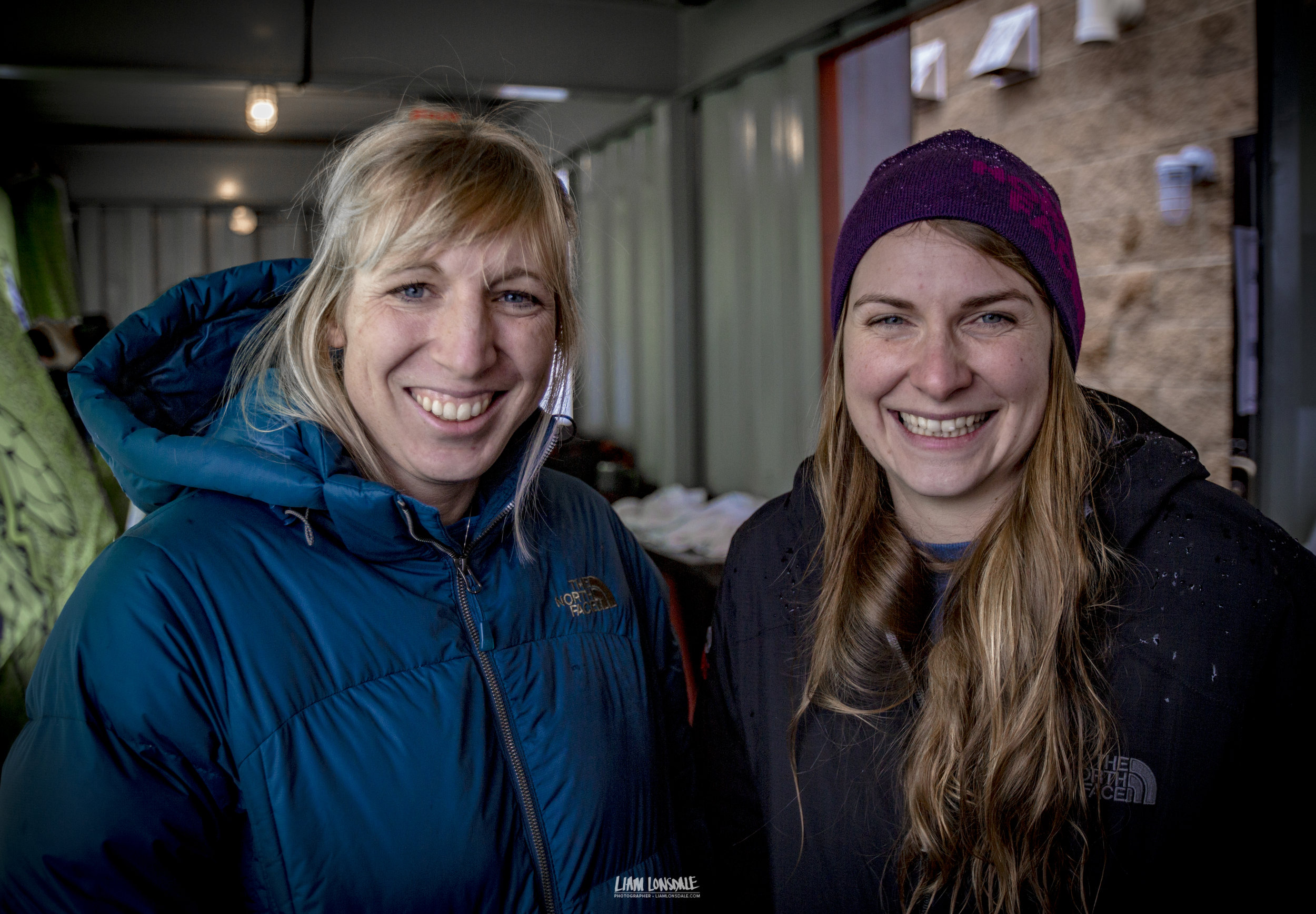 Team UIAA:Sophie G (L) and Carol K (R), a right lovely pair of lasses © Liam Lonsdale 2016