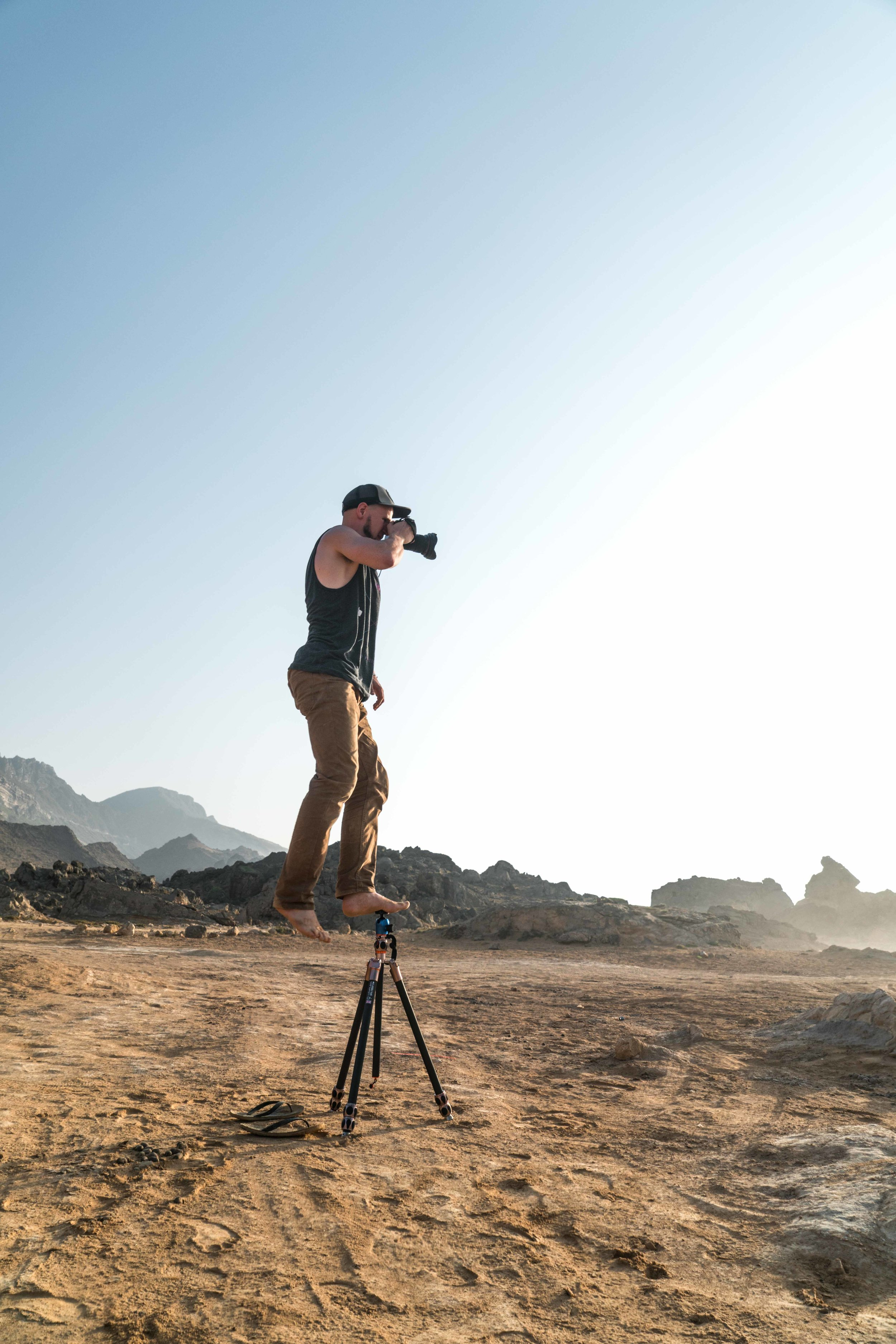 Winston  and I standing around in the Omani desert. Salalah, Oct 2016 © Read Macadam 2016