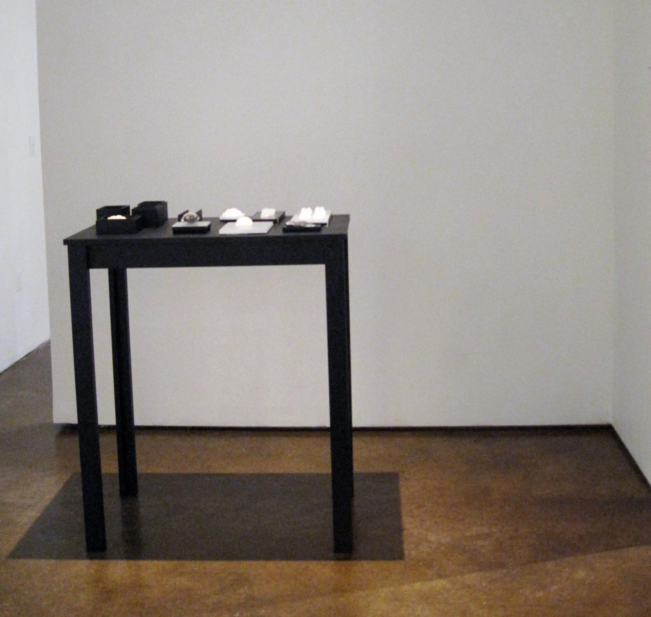 Specimens A032 - R016 on custom table