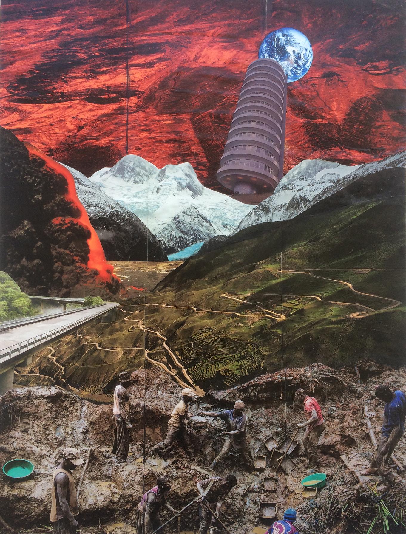 Handmade Collage 48x63 cm /2016
