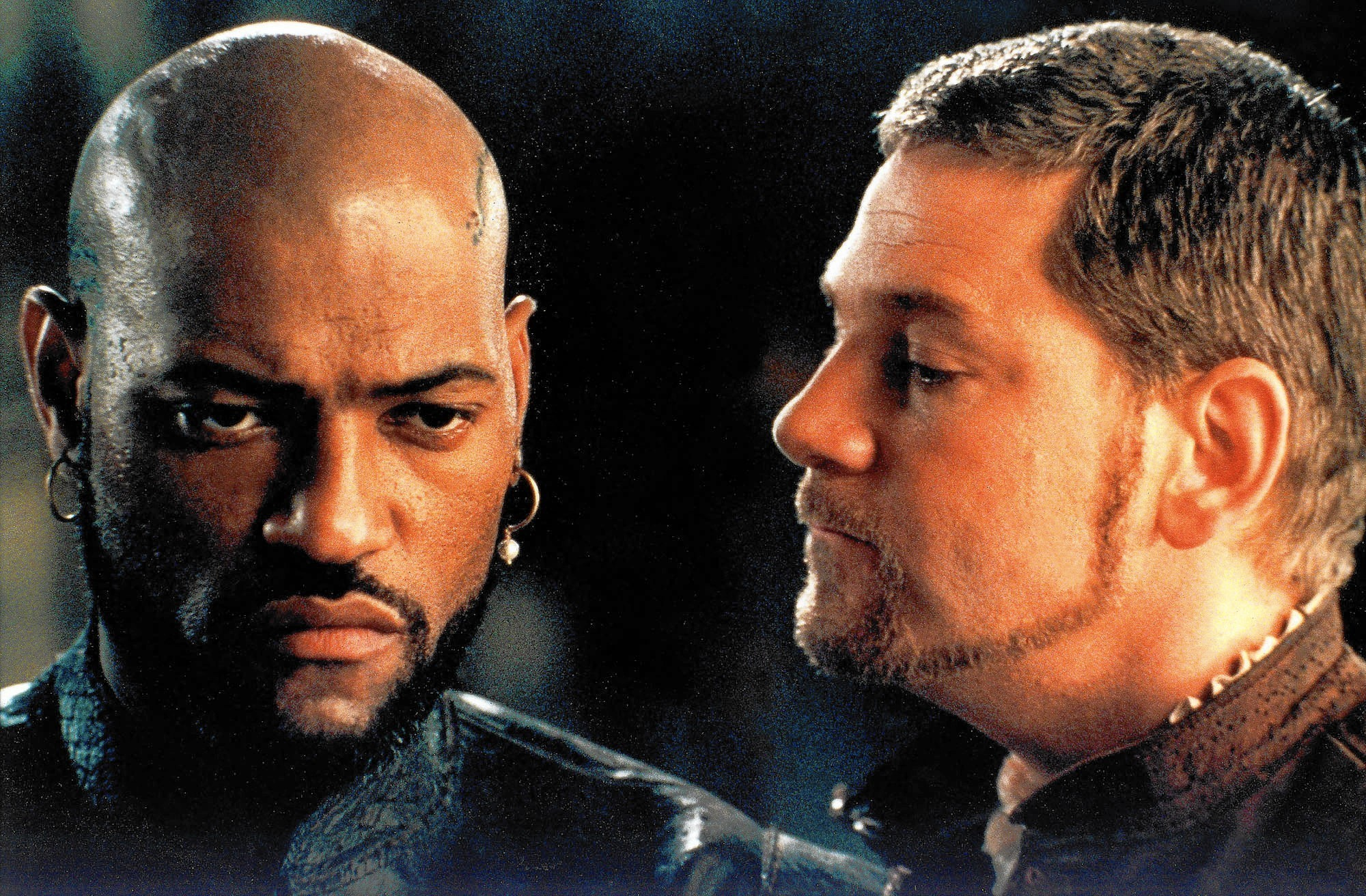 "Laurence Fishburne as Othello, the world's most famous jealous man, and Kenneth Branagh as the two-faced Iago. ""O, beware, my lord, of jealousy! / It is the green-eyed monster which doth mock / The meat it feeds on."""