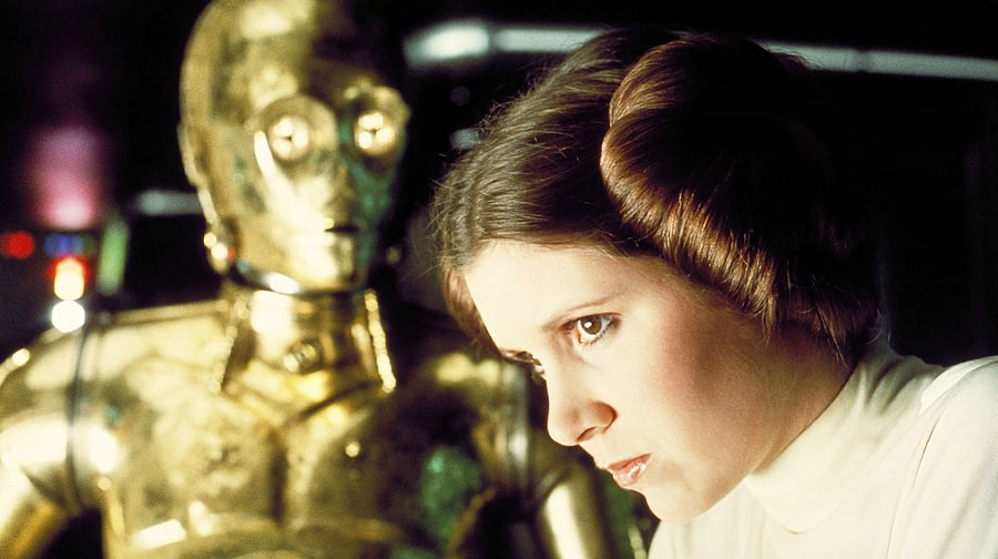 Not the most relevant of pictures, but I like to think of Grammarly as a permanently befuddled C3PO type (and of myself as an ultra-competent Leia type, obviously).