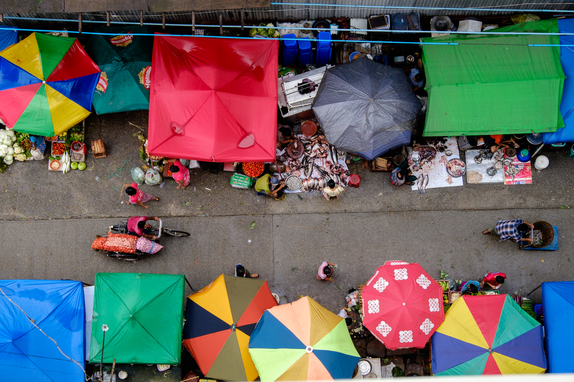 Mercado em Chinatown - Yangon