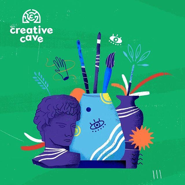 Crear para vivir 🌱💚 branding para @creativecave_us 💜 #lavalentina #laselvacreativa #stalkeesinpena #branding #ofizlaif #equipoanimal