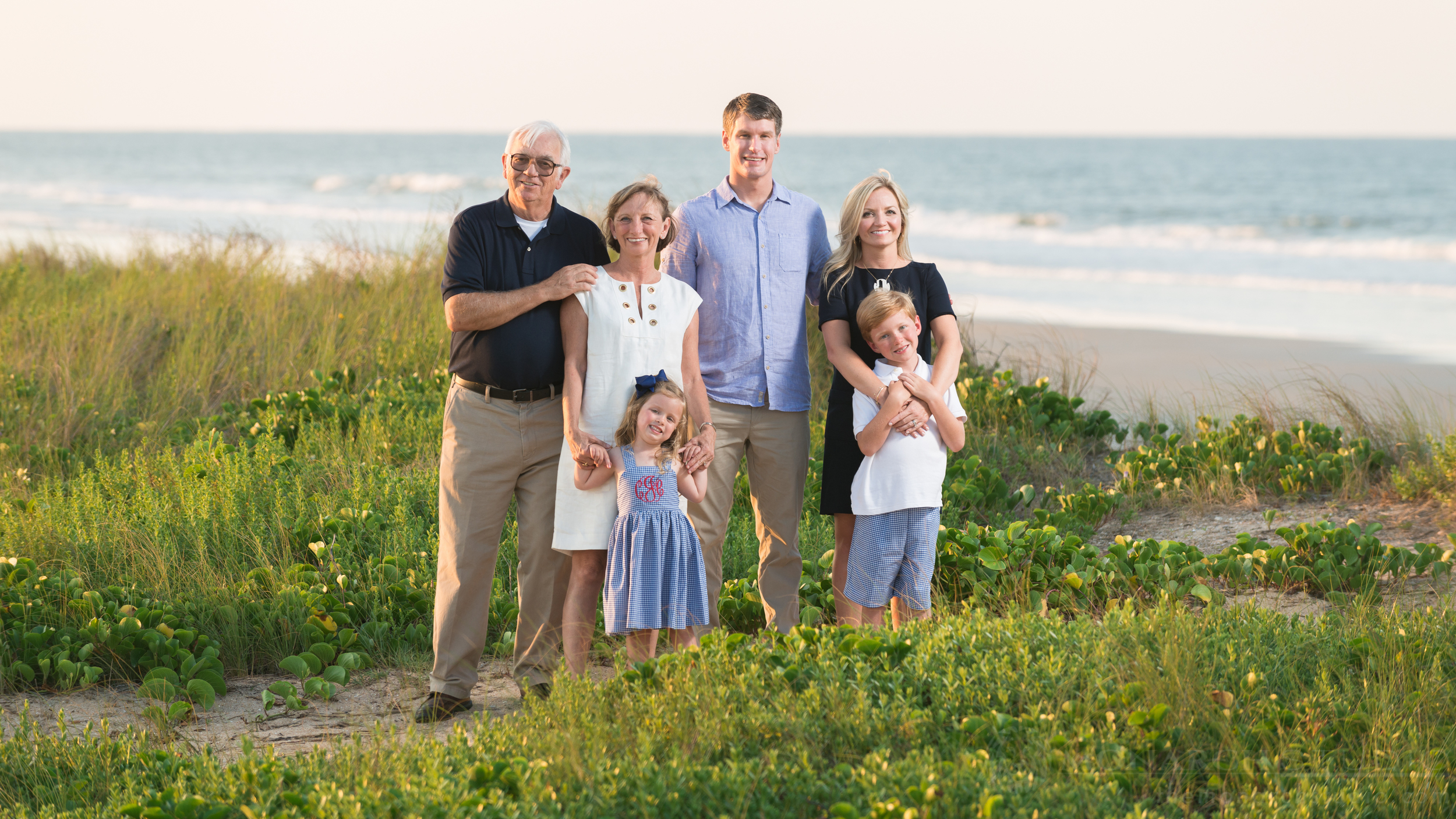 St. Augustine Family Photographers captured beautiful extended family portrait on the beach.