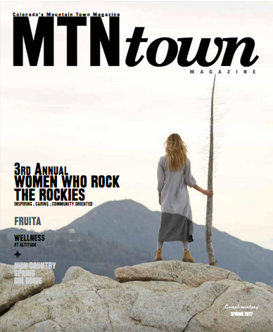 MTNtown Magazine - Kayce Anderson, For the Good's Executive Director, was selected as one of five women trailblazer's living in Colorado who've sparked powerful change in communities, business and philanthropy in 2017. Each calls one of Colorado's mountain towns home. Read the full article here
