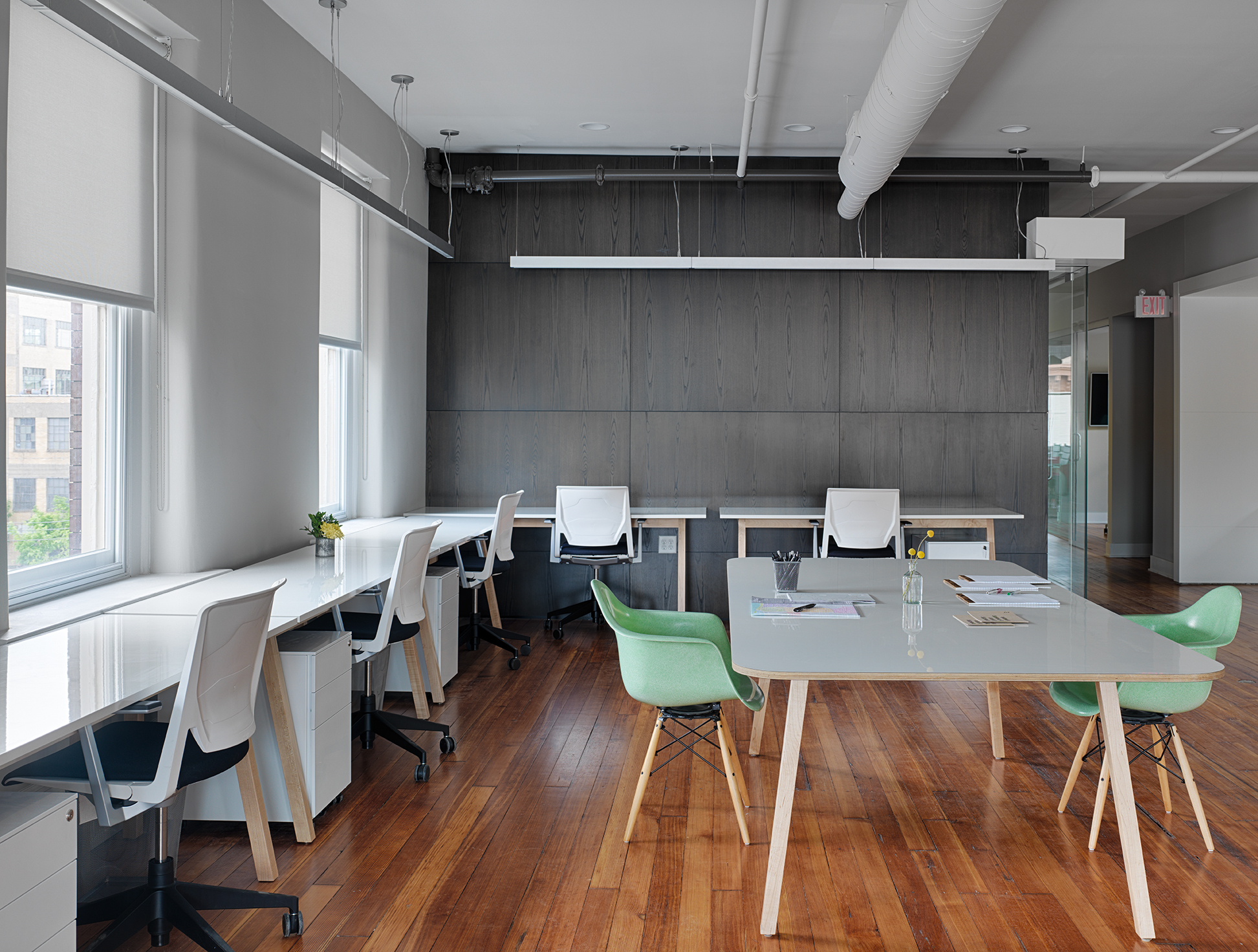 maple and laminate desks