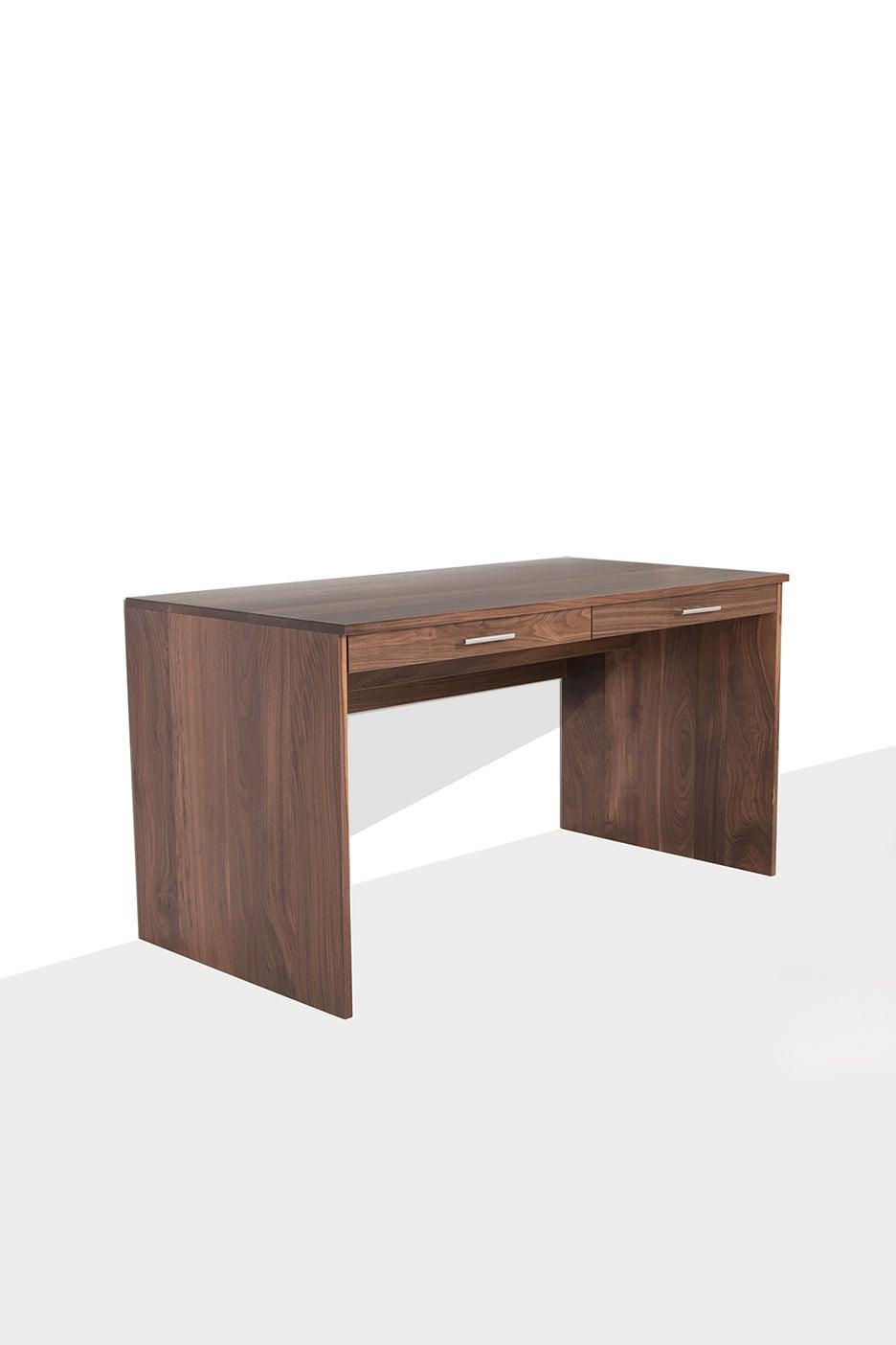 3/4 walnut desk with drawers