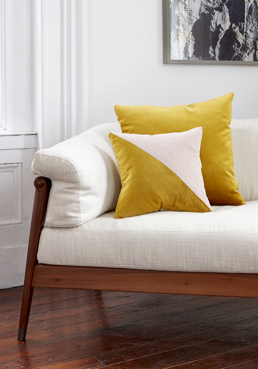 bff Gold and Pink velvet pillows