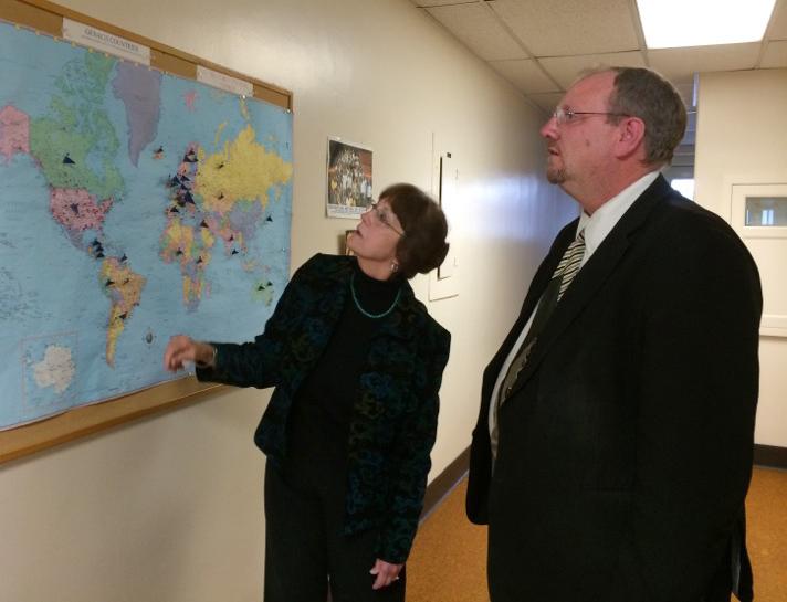 Dr. Sharon Wilsnack andTom Brusegaard, Regional Director for Senator John Hoeven (R-ND).