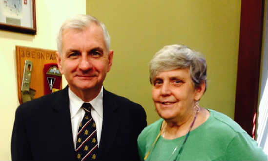 Sen. Jack Reed (D-RI) and Dr. Mary Carskadon