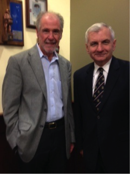 Dr. Barry Lester and Sen. Jack Reed (D-RI)