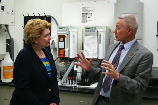 Sen. Debbie Stabenow (D-MI) and Dr. Gary Dunbar