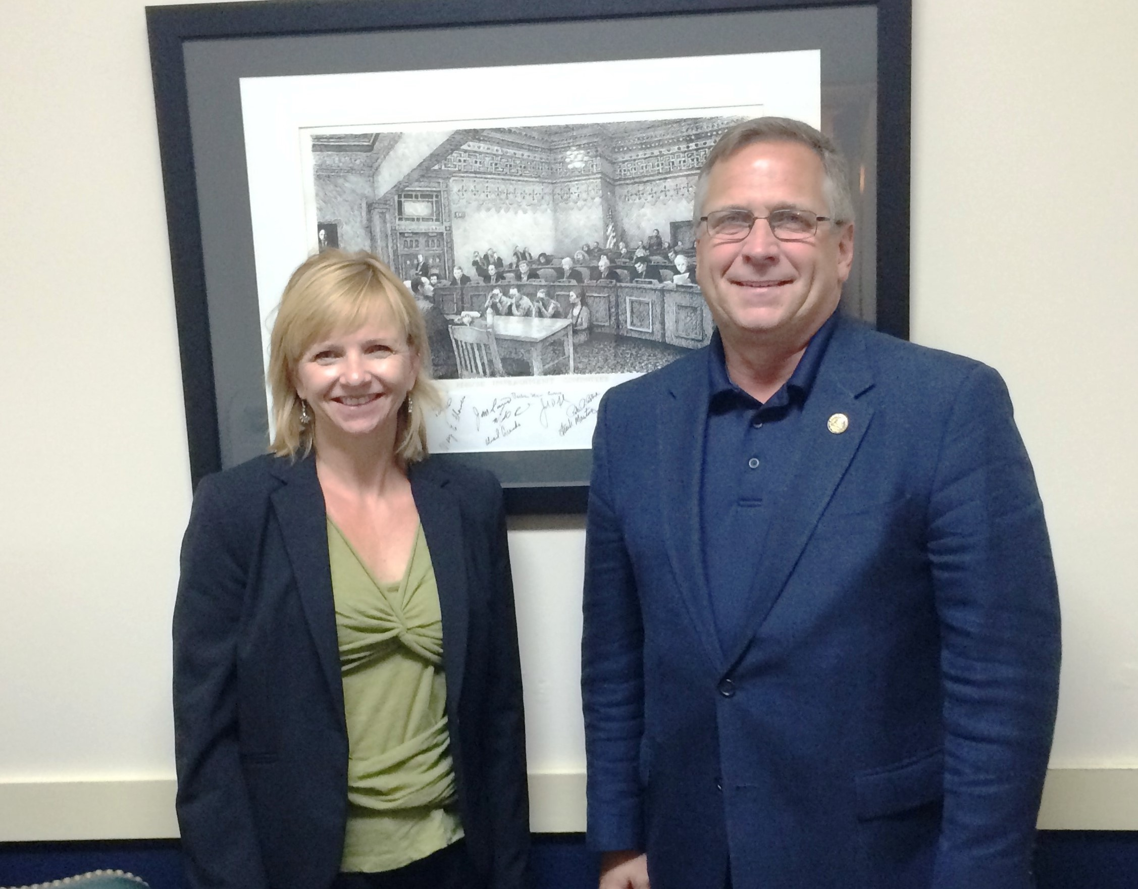Dr. Cathleen Chwalisz and Rep. Mike Bost (R-Il)