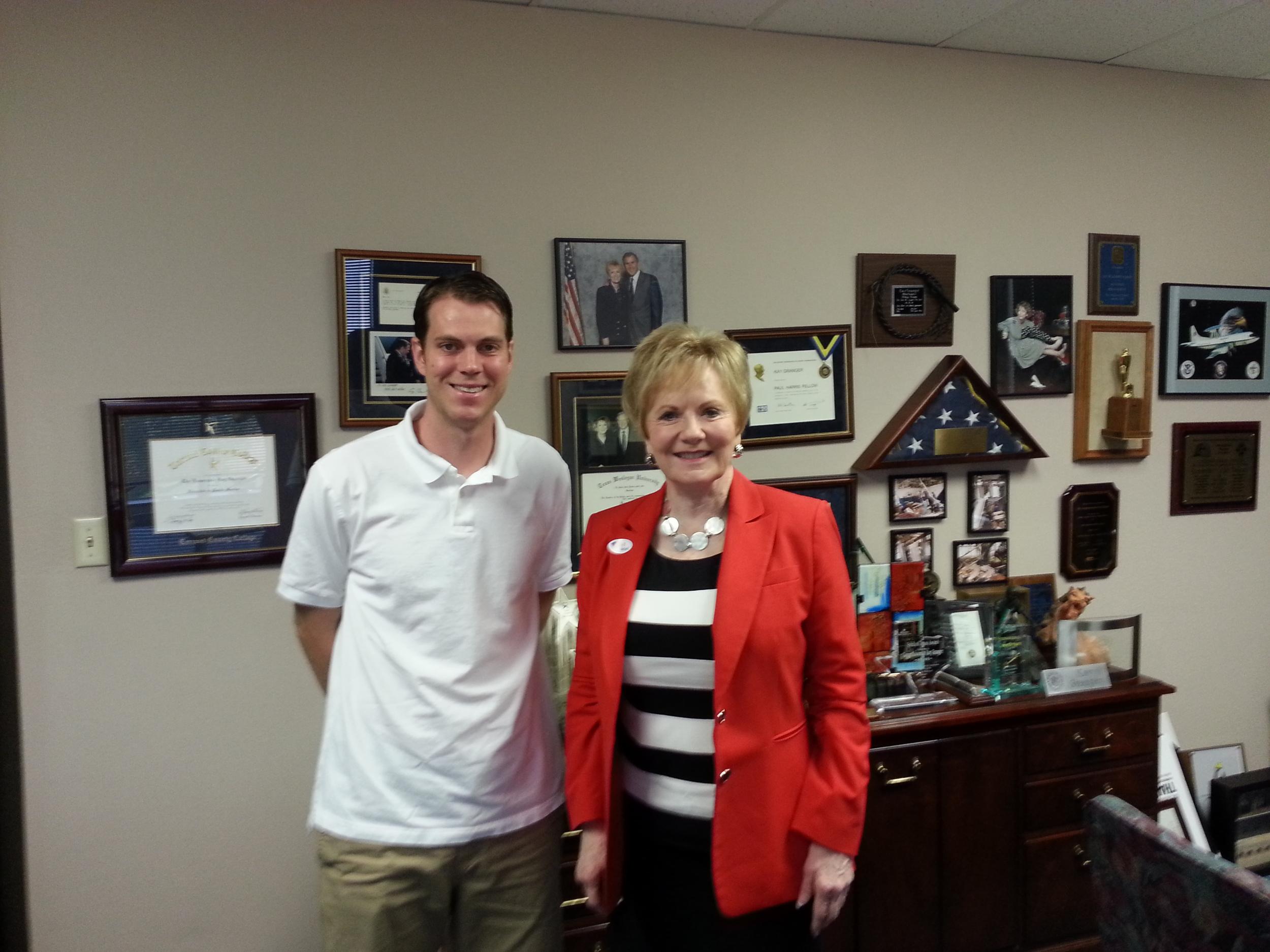 Dr. Ken Leising and Rep. Kay Granger (R-TX)