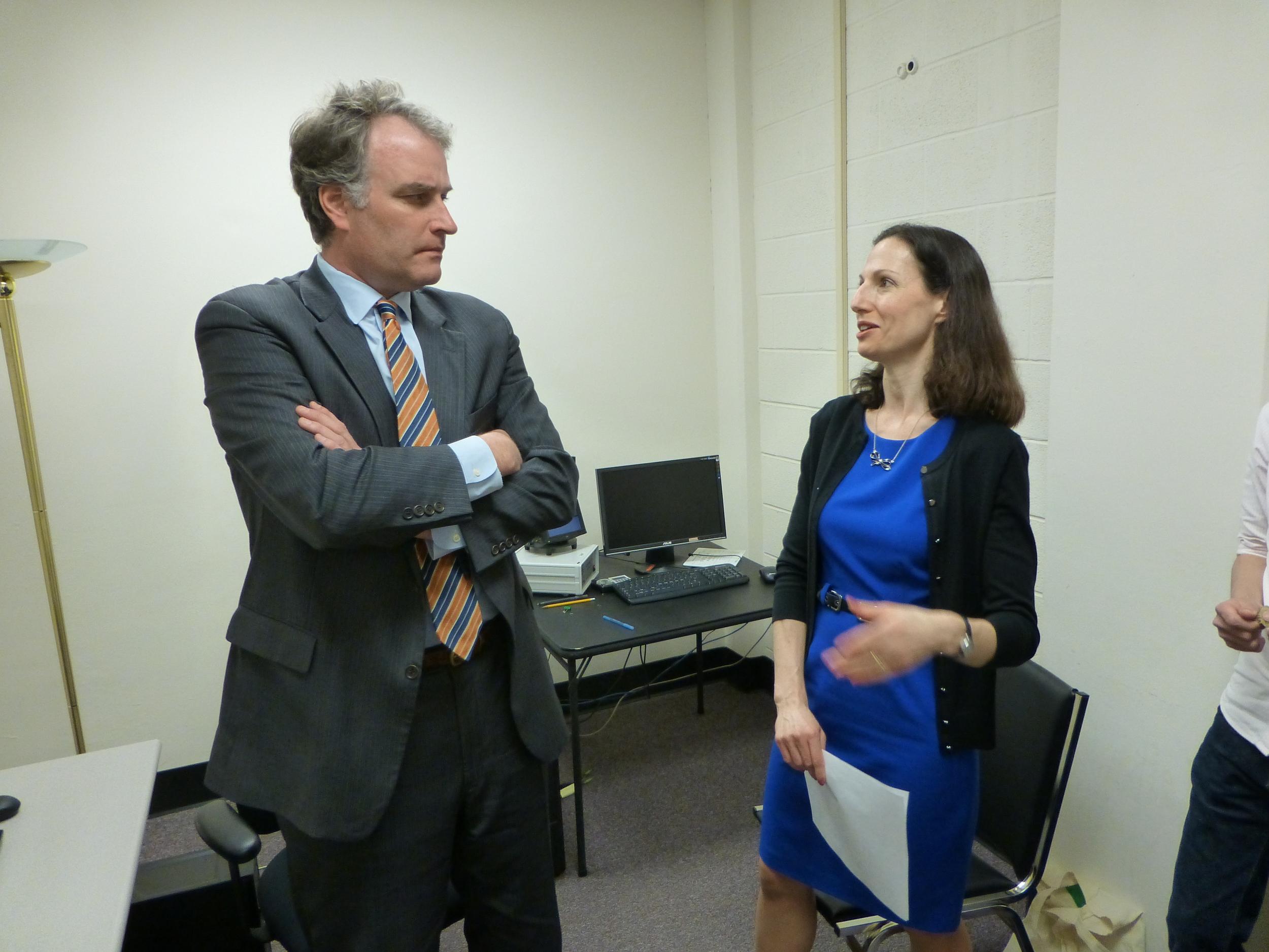 Rep. Robert Hurt (R-VA) and Dr. Bethany Teachman