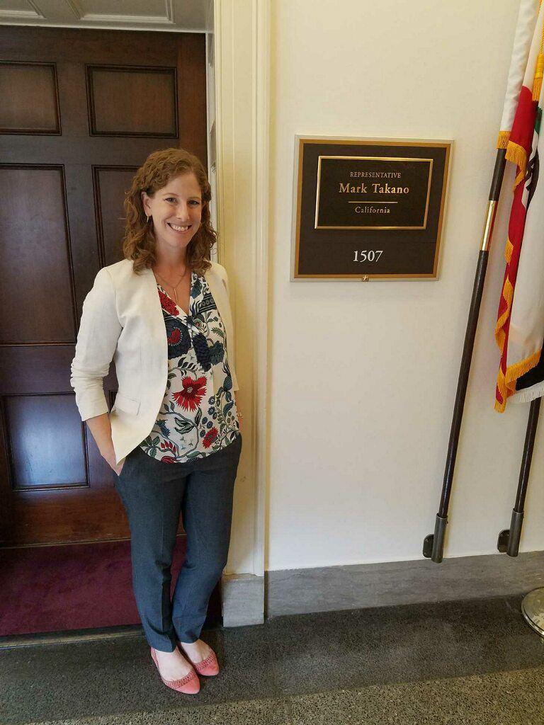 Kate Sweeny at the office of Representative Mark Takano (D-CA)